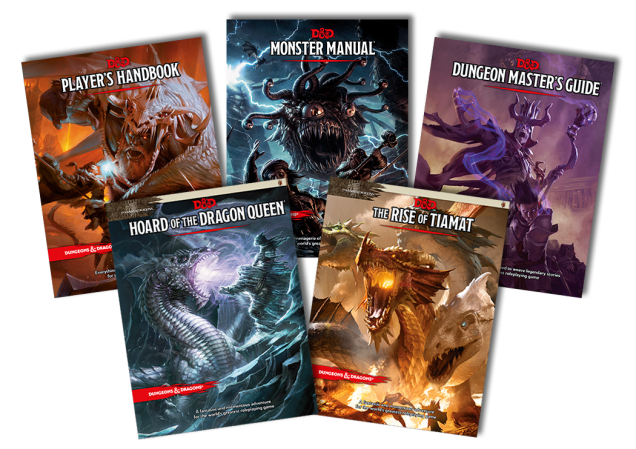 5th Edition Core Rule Books and Adventure Modules